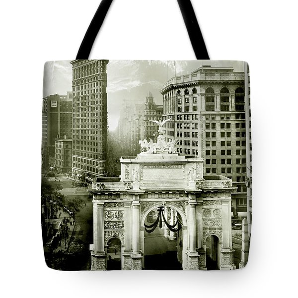 1919 Flatiron Building With The Victory Arch Tote Bag