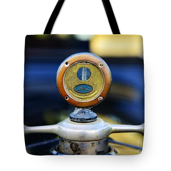 1919 Ford Model T Hood Ornament Original Tote Bag by Paul Ward