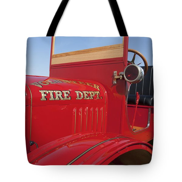 1919 Volunteer Fire Truck Tote Bag by Jill Reger