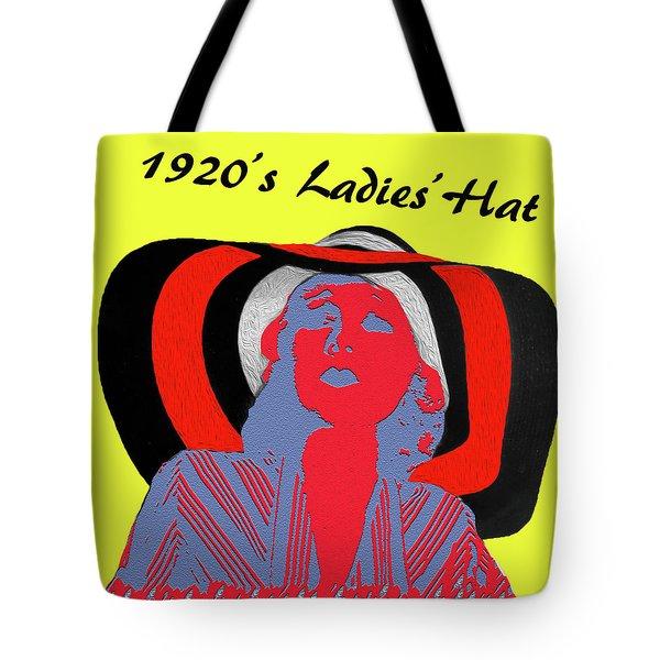 1920s Ladies Hat Tote Bag by Bruce Iorio