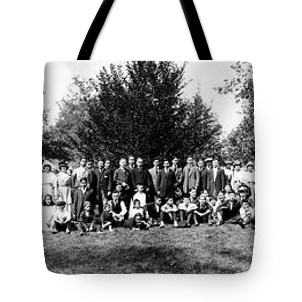 Tote Bag featuring the photograph 1921 Japanese Americans In Los Angeles California by Historic Image