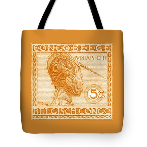 Tote Bag featuring the painting 1923 Belgian Congo Ubangi Woman by Historic Image