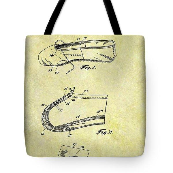 1924 Ballet Slipper Tote Bag