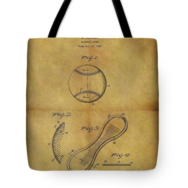 1924 Baseball Patent Tote Bag