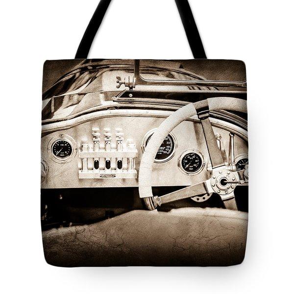 1925 Aston Martin 16 Valve Twin Cam Grand Prix Steering Wheel -0790s Tote Bag