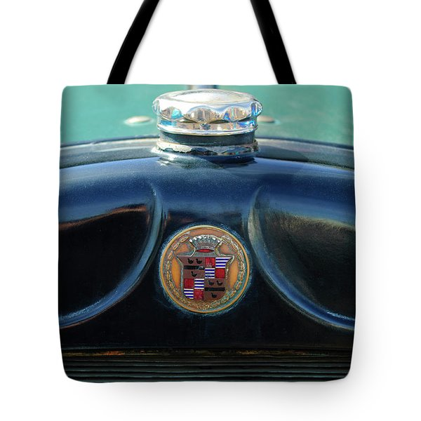 1925 Cadillac Hood Ornament And Emblem Tote Bag by Jill Reger