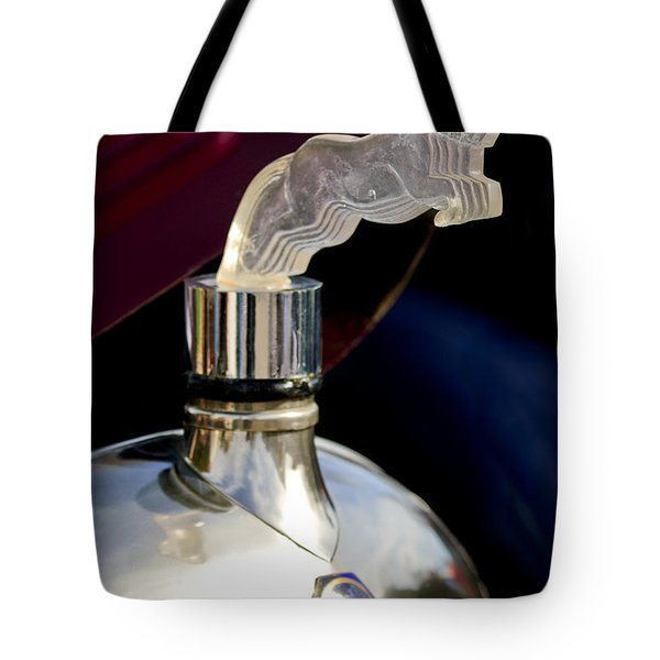 1925 Citroen Cloverleaf Hood Ornament Tote Bag by Jill Reger