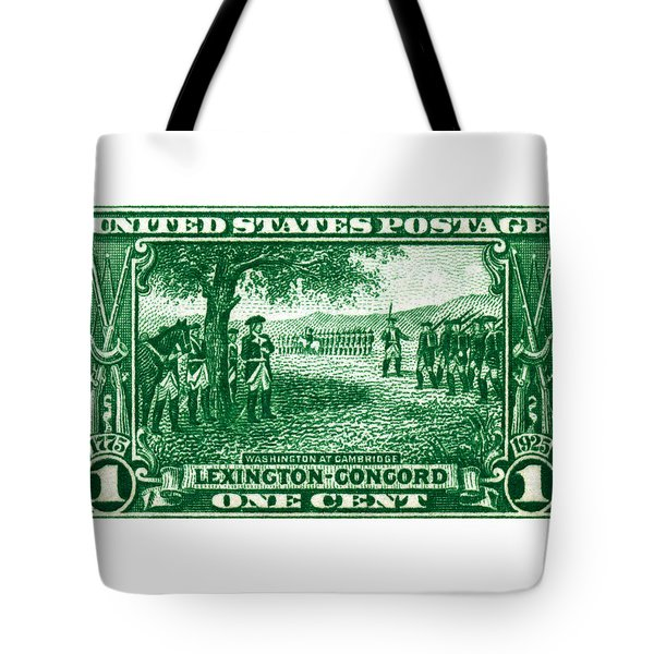 1925 George Washington At Cambridge Stamp Tote Bag