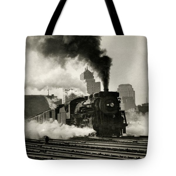 1925 Train Leaving Boston  Tote Bag by Historic Image