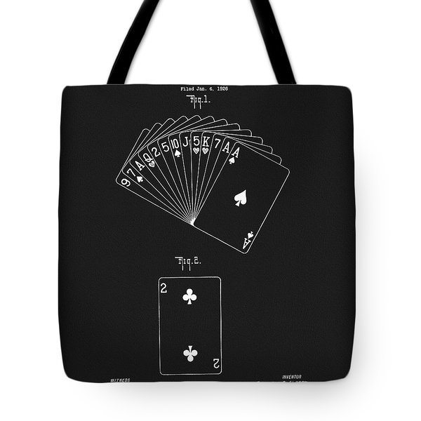 1926 Playing Cards Tote Bag