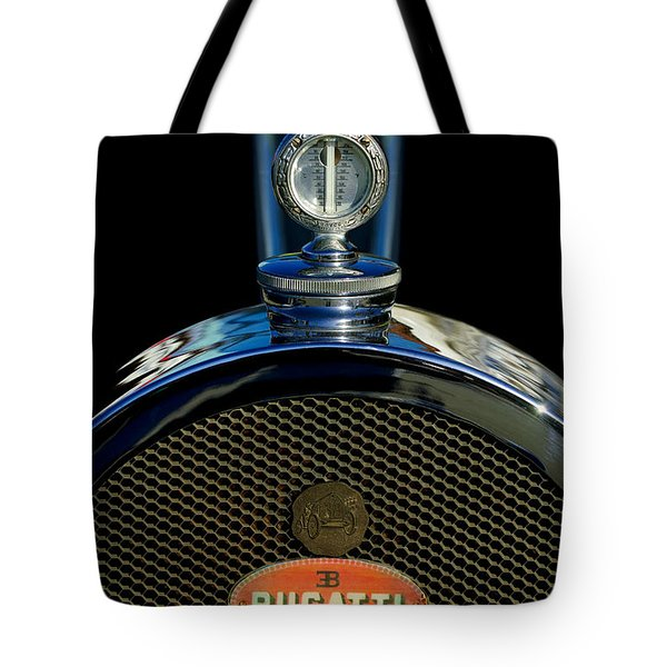 1927 Bugatti Replica Hood Ornament Tote Bag by Jill Reger