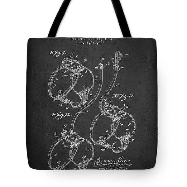 1927 Dog Harness Patent - Charcoal Tote Bag