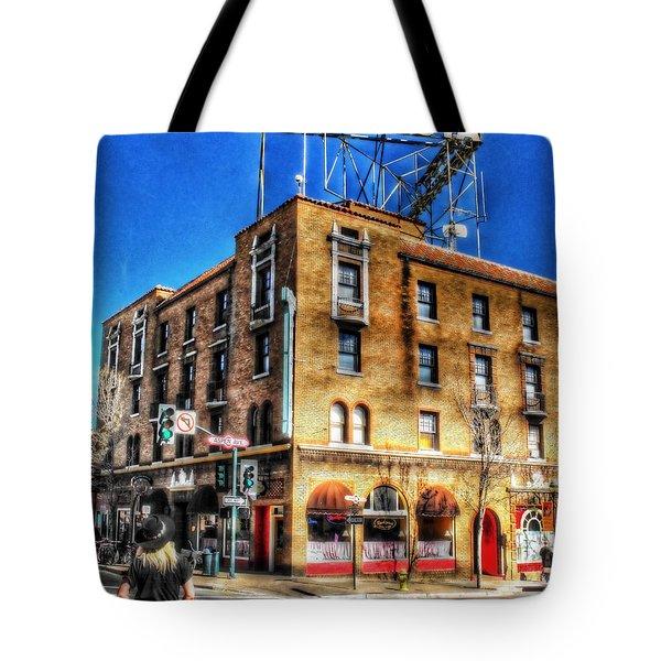 1927 Hotel Monte Vista - Flagstaff  Tote Bag by Saija  Lehtonen