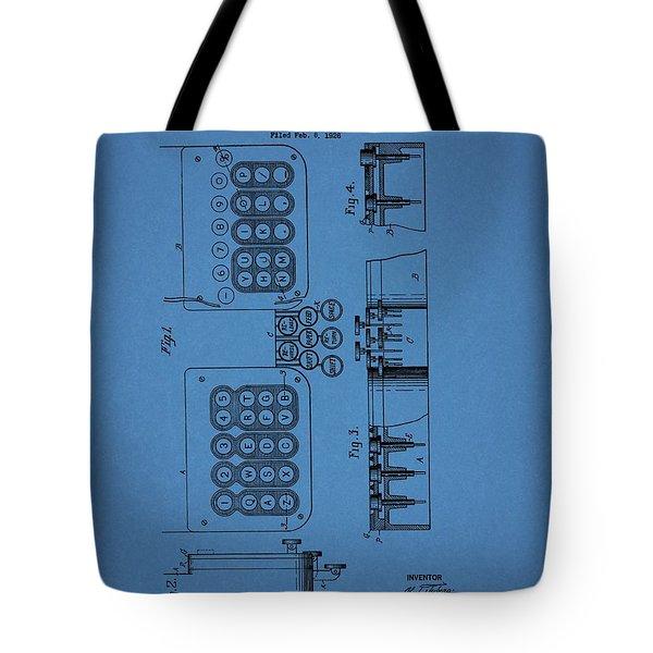 1927 Typewriter Patent Tote Bag