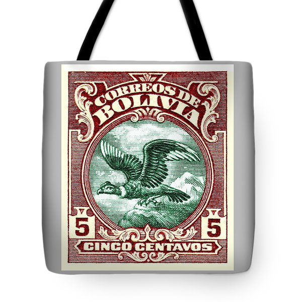 1928 Bolivia Andean Condor Postage Stamp Tote Bag