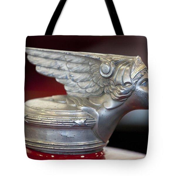 1928 Buick Custom Speedster Hood Ornament Tote Bag by Jill Reger