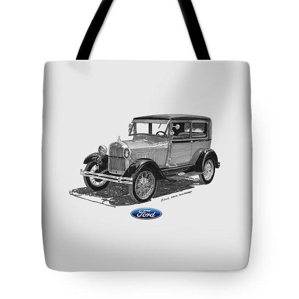 Model A Ford 2 Door Sedan Tote Bag by Jack Pumphrey