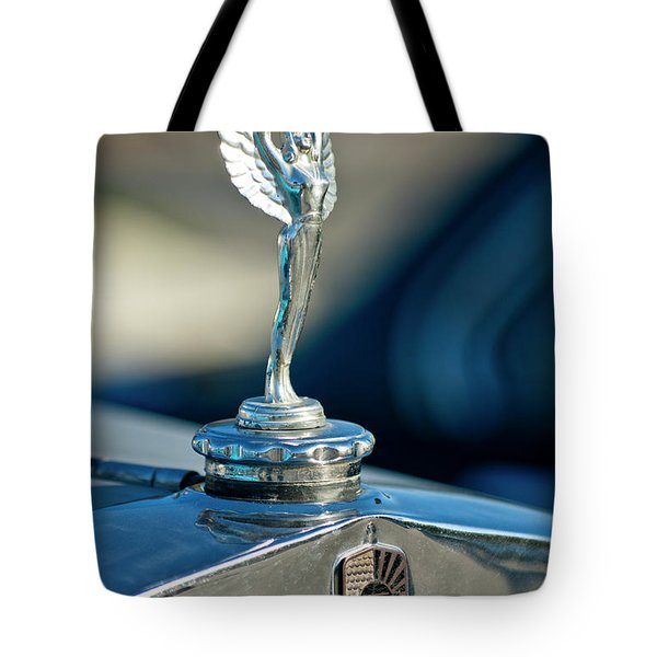 1928 Nash Coupe Hood Ornament Tote Bag by Jill Reger