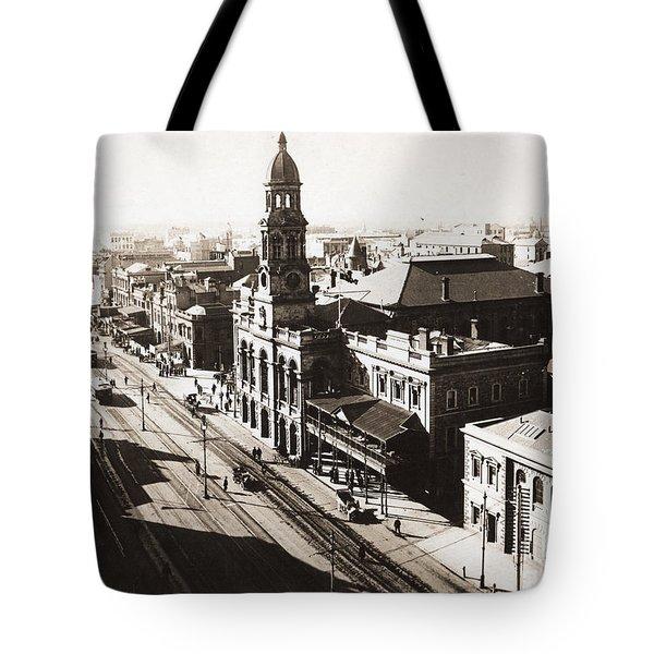 1928 Vintage Adelaide City Landscape Tote Bag