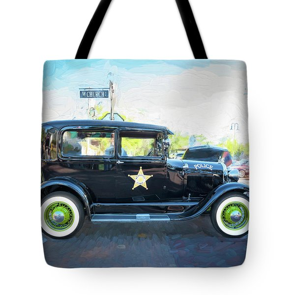 Tote Bag featuring the photograph 1929 Ford Model A Tudor Police Sedan  by Rich Franco