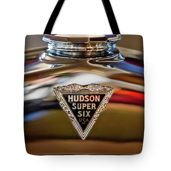1929 Hudson Cabriolet Hood Ornament Tote Bag by Jill Reger