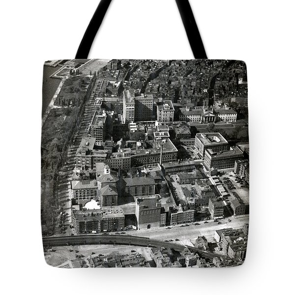 Tote Bag featuring the photograph 1930 Along Charles Street, Boston by Historic Image