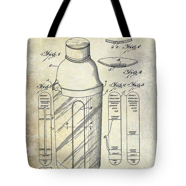 1930 Cocktail Shaker Patent Tote Bag