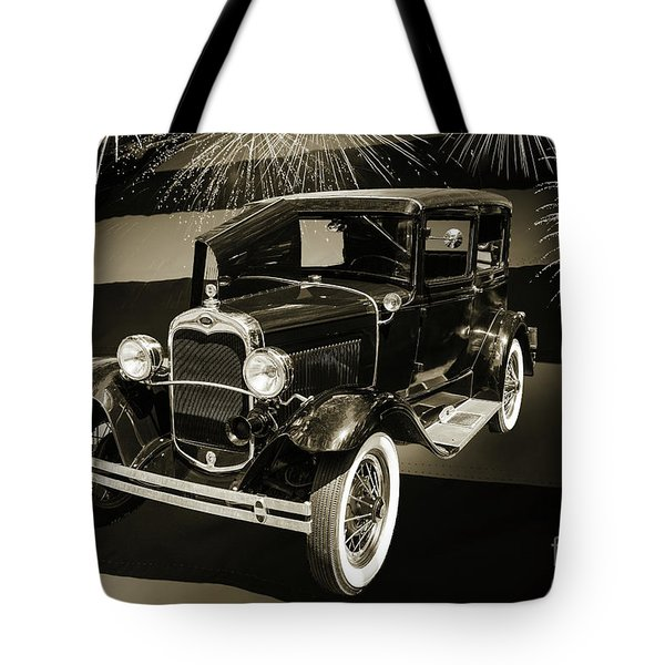 1930 Ford Model A Original Sedan 5538,16 Tote Bag by M K  Miller