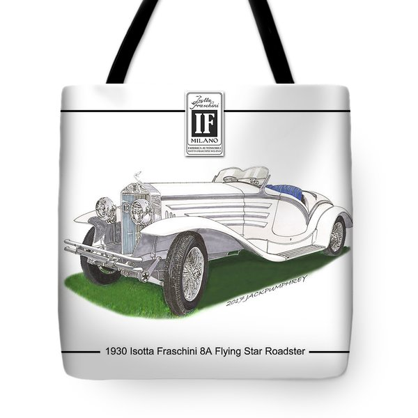 1930 Isotta Fraschini 8a Flying Star Roadster Tote Bag by Jack Pumphrey
