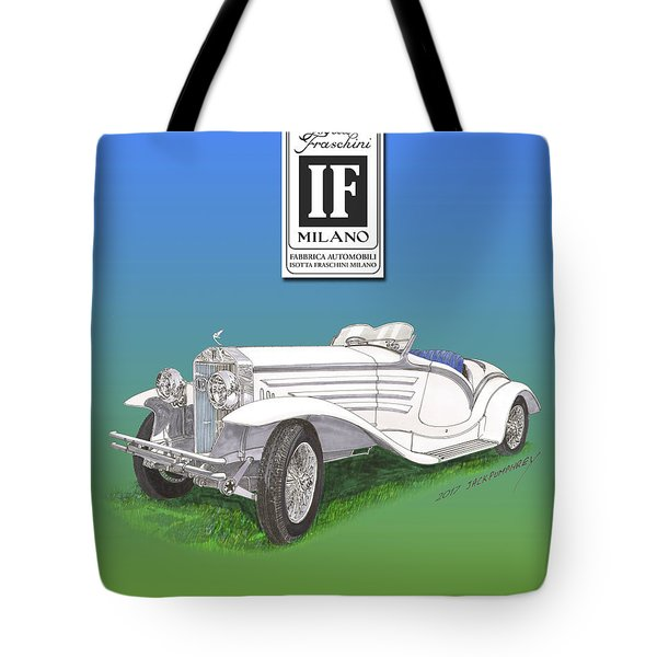 1930 Isotta Fraschini Tippo 8 A Flying Star Roadster Tote Bag by Jack Pumphrey