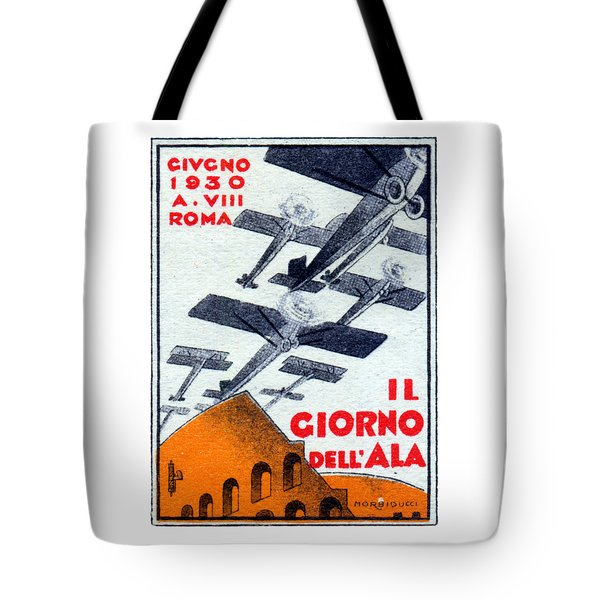 Tote Bag featuring the painting 1930 Italian Air Show by Historic Image
