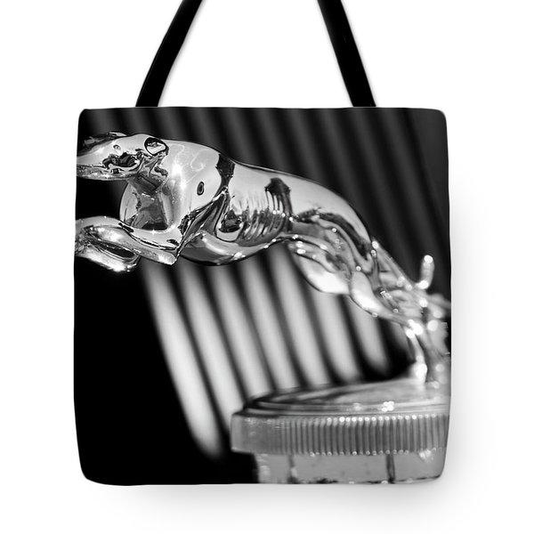 1930 Lincoln Berline Hood Ornament Tote Bag by Jill Reger