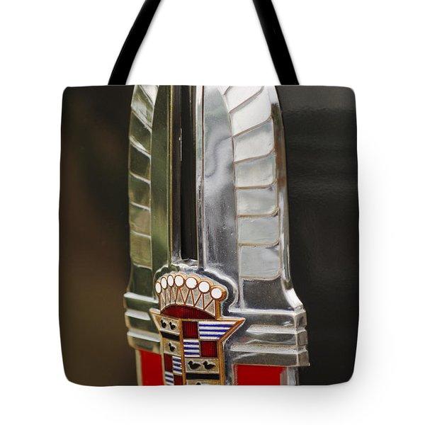 1930's Cadillac Emblem Tote Bag by Jill Reger