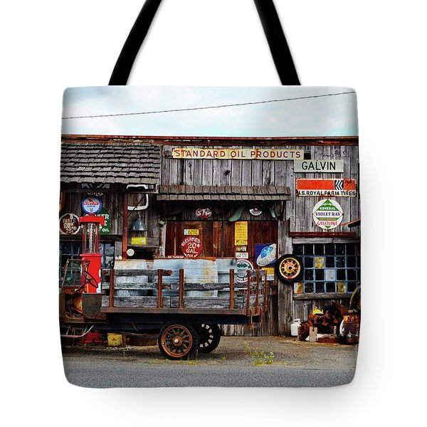 1930s Gas Station And Garage Tote Bag