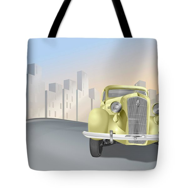 1930's Plymouth Sedan Tote Bag by Marty Garland