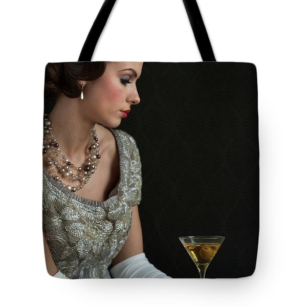 1930s Woman With A Cocktail Glass Tote Bag