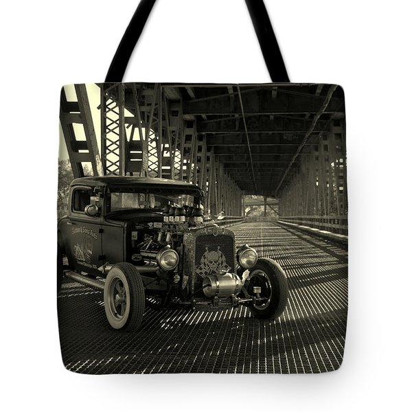 1931 Nash Coupe Rat Rod Tote Bag