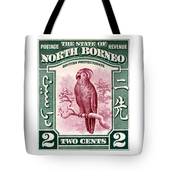 1931 North Borneo Palm Cockatoo Stamp Tote Bag