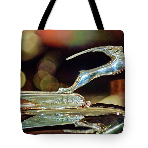 1932 Chrysler Imperial Hood Ornament 1 Tote Bag by Jill Reger