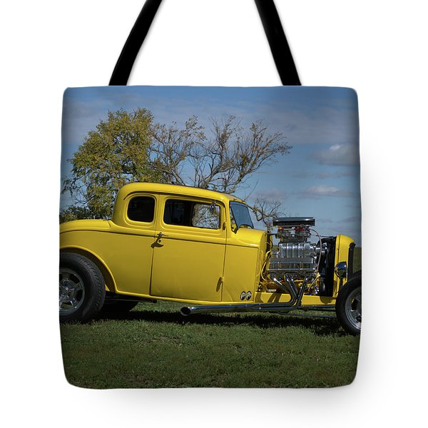 1932 Ford 5 Window Coupe Hot Rod Tote Bag