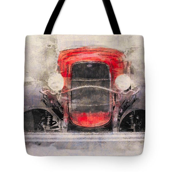 1932 Ford Roadster Red And Black Tote Bag