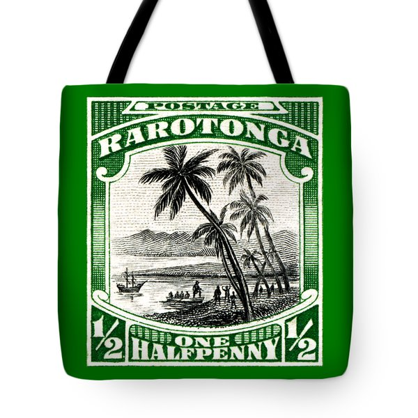 Tote Bag featuring the painting 1932 Landing Of Captain Cook Stamp by Historic Image