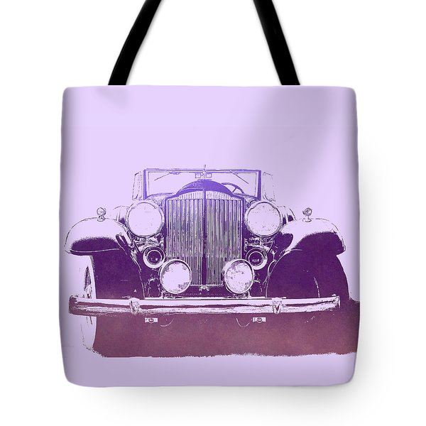 1932 Packard Pop Art Violet Gradient Tote Bag