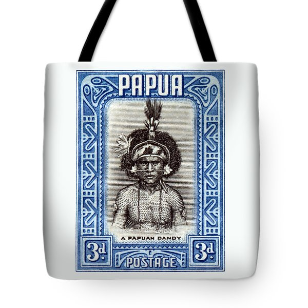 1932 Papuan Dandy Stamp Tote Bag by Historic Image