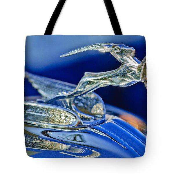 1933 Chrysler Imperial Hood Ornament Tote Bag by Jill Reger