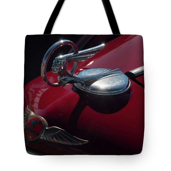 Tote Bag featuring the photograph 1933 Pontiac Chief Hood Ornament by Chris Flees