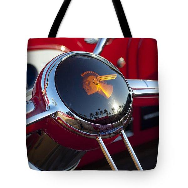 1933 Pontiac Steering Wheel Tote Bag by Jill Reger
