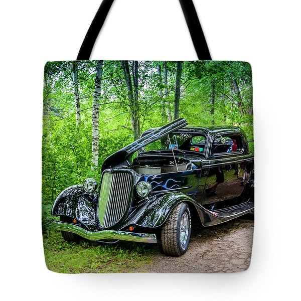 1934 Ford 3 Window Coupe Tote Bag by Ken Morris