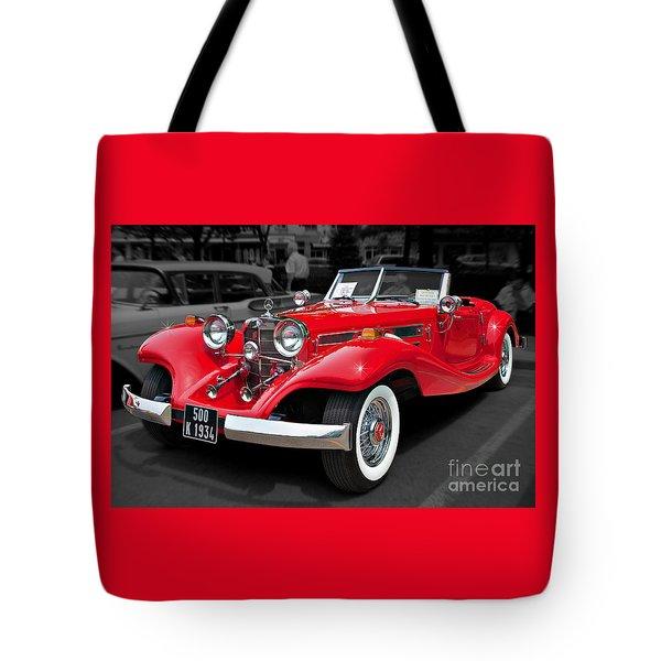 1934 Mercedes 500k Cabriolet Tote Bag