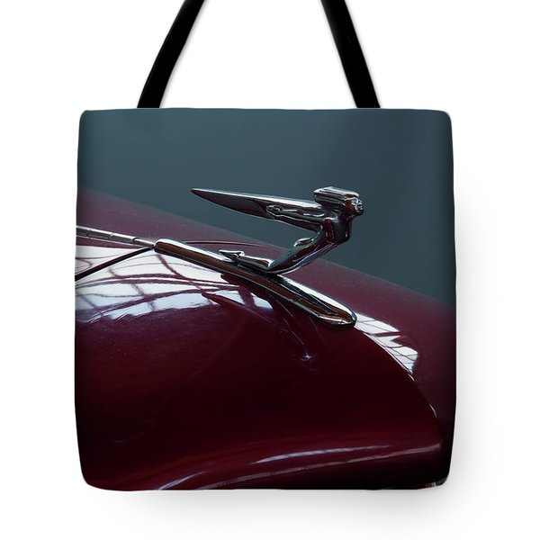 Tote Bag featuring the photograph 1936 Auburn Hood Ornament by Chris Flees